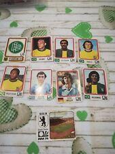 10 FIGURINE ALBUM CALCIATORI PANINI MUNCHEN 74 WORLD CUP 1974