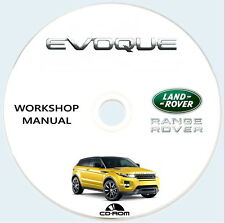 Workshop Manual,Range Rover EVOQUE 2,0L GTDi e 2,2L TD4,manuale officina.