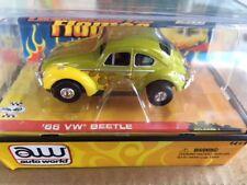 Very Rare Nos Autoworld Rel 7 Flamed 66 Vw Beetle Ultra G Ho Slot Car fit Aurora