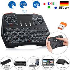2.4Ghz Mini Tastatur mit Touchpad Beleuchtung USB Funktastatur Maus fr PC TV Box