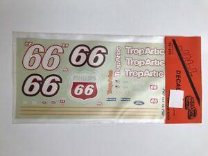 JNJ HOBBIES #66 STOCK CAR DECALS 'TROPARTIC/PHILLIPS 66' 1/24-1/25 SET 92-235