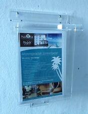 DIN A5 Prospektbox mit Deckel wetterfest, Flyerbox ,Prospekthalter