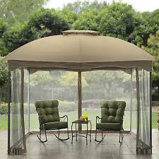 10' x 12' Patio Cabin Gazebo Outdoor Canopy Sun Shelter Netting Vented Backyard