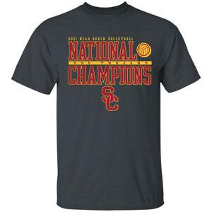 Men's USC Trojans 2021 Beach Volleyball National Champions T-Shirt S-4XL