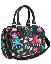 Liquor Brand Unicorn Tattoo Punk Rock Fantasy Round Bag Handbag Purse B-RB-012