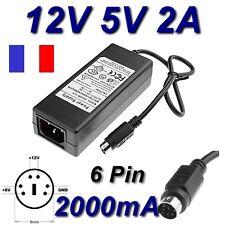 Adaptateur Secteur Alimentation 12V 5V 2A 6 PIN Disque Dur Zaapa JHS-Q05 12-S335