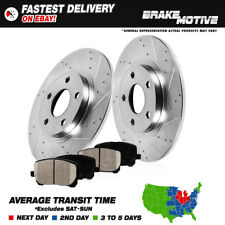 Rear Drilled & Slotted Brake Rotors And Ceramic Pads 2011 2012 Cruze 2013 Sonic