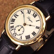 Authentic Longines Charleston White Dial Gold Plated Quartz Mens Wrist Watch