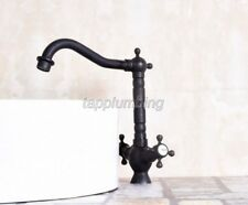 Black Antique Brass Bathroom Basin & Kitchen Sink Faucet Mixer Taps  tnf142