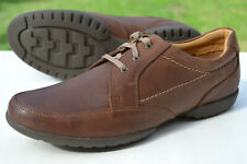 Clarks Mens Casual Shoes RECLINE OUT Tan Leather UK 9.5 H / 44 Wide Fit