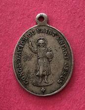 Antique Catholic Religious Holy Medal - Congregation Du Saint Enfant Jesus