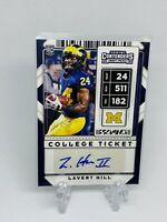 2020 Panini Contenders Draft Picks Lavert Hill Auto Autograph Rookie RC