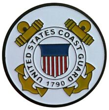Two Sided Coast Guard Golf Ball Marker with USA Hat Clip