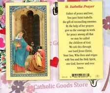 Saint. Isabella with St Isabella Prayer - Laminated Holy Card