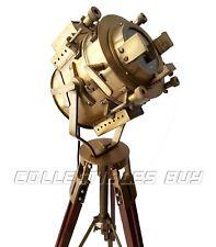 Industrial Studio Designer Nautical Searchlight Tripod Floor Lamp Antique Lights