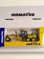 New Komatsu Official Diecast Model Motor Grader GD675-6 1/87 Japan