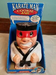 2001 The Original Karate Man Cookie Jar New in Box Fun Damental- As Is