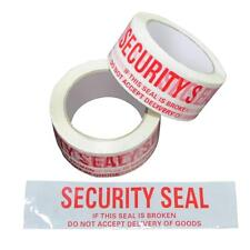 4 x White Security Seal Packaging Parcel Tape 48mm x 75m