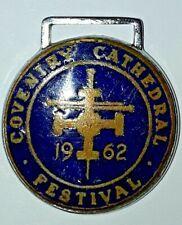 Vintage Coventry Cathedral Festival 1962 Medallion Charm Logo Enamel? 1960s