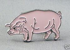 Pink Pig Hog motorcycle enamel pin / lapel badge