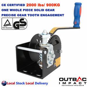 Professional 2000lbs / 900kgs Worm Winch Worm Gear Drive Non-Brake 41:1 Ratio