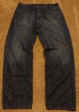 Mens Calvin Klein STRAIGHT LEG Fit 36 x 32 Dark Blue Jeans actual = 35x31
