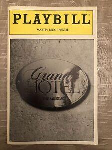 GRAND HOTEL Nov 1989 Broadway Playbill! MICHAEL JETER Jane Krakowski +!