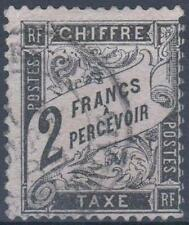 """FRANCE STAMP TIMBRE TAXE N° 23 """" TYPE DUVAL 2 FRANCS NOIR """" OBLITERE TB  M307"""