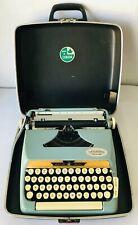 Eaton's Viking Deluxe Portable Blue Typewriter White Keys + Case Vintage Canada