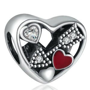 Diy1Pcs Silver European Cz Charm Crystal Spacer Beads Fit Necklace Bracelet D026