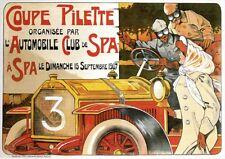 Coupe Pilette | L'Automobile Club De Spa 1907 | Vintage Poster | A1, A2, A3