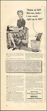 1943 Vintage ad for Royal Typewriter Company`Art WWII era Secretary    (031517)