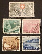 Schweiz Pro Patria 1953 Mi-Nr. 580/84 gestempelt