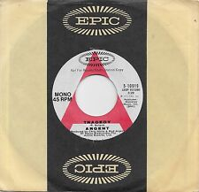 ARGENT  Tragedy / He's A Dynamo  rare promo 45 from 1972  THE ZOMBIES