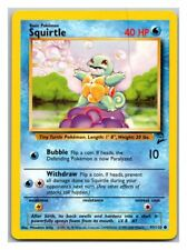 Squirtle 93/130 Base Set 2 Pokemon Card Excellent Cond #