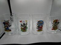 McDonalds Walt Disney World Year 2000 Celebration Glasses Set of 4  Mickey Mouse