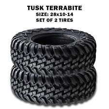 Tusk Terrabite  Radial Steel Belted All-Terrain ATV/UTV 28x10-14 Tires(Set of 2)