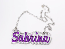 Custom Made Couples Necklace - Personalized Name Necklace - Acrylic Name Chain