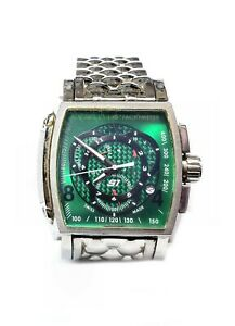 INVICTA Mans Watch Large Green Dial. USED