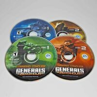 Command&Conquer Generals Deluxe Edition Base+Zero Hour PC 4 CD-ROM Game Keys