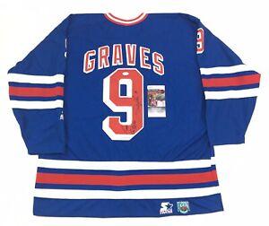 Adam Graves Signed New York Rangers Authentic Jersey JSA COA