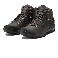 Keen Mens Venture Mid Leather WP Walking Boots Grey Sports Outdoors Waterproof