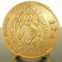 Medal Seal of King Franc Robert II le Pius Dynasty Capetian 72 mm Medal