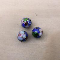 25 Perles métal, peinte a la main 8MM