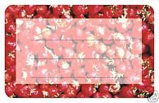 50 Erdbeer SK-Papieretiketten 5 x 8 cm,für Marmeladengläser Glas Gläser Flasche