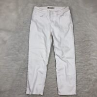 Womens Levis Mid Rise Skinny Crop Jeans Size 6 28 White Denim Stretch