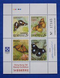 Micronesia (#190) 1994 Butterflies MNH minisheet