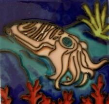 Cuttlefish  Ceramic Decorative Wall Art Tile 4x4 New