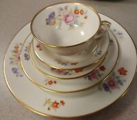Lamberton Ivory China Linda Lee 5 pc setting: iris, floral, vintage: plate, cup