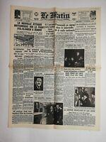 N764 La Une Du Journal Le Matin 4 novembre 1942 nouvelle attaque britannique